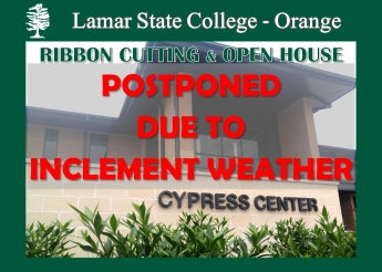 Cypress Center Ribbon Cutting and Open House Postponed Due to Inclement Weather
