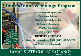 Information Technology Program; For more information, call (409) 882-3027