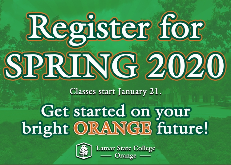 Spring 2020 registration starts Monday, November 4. Get started on your bright Orange future.