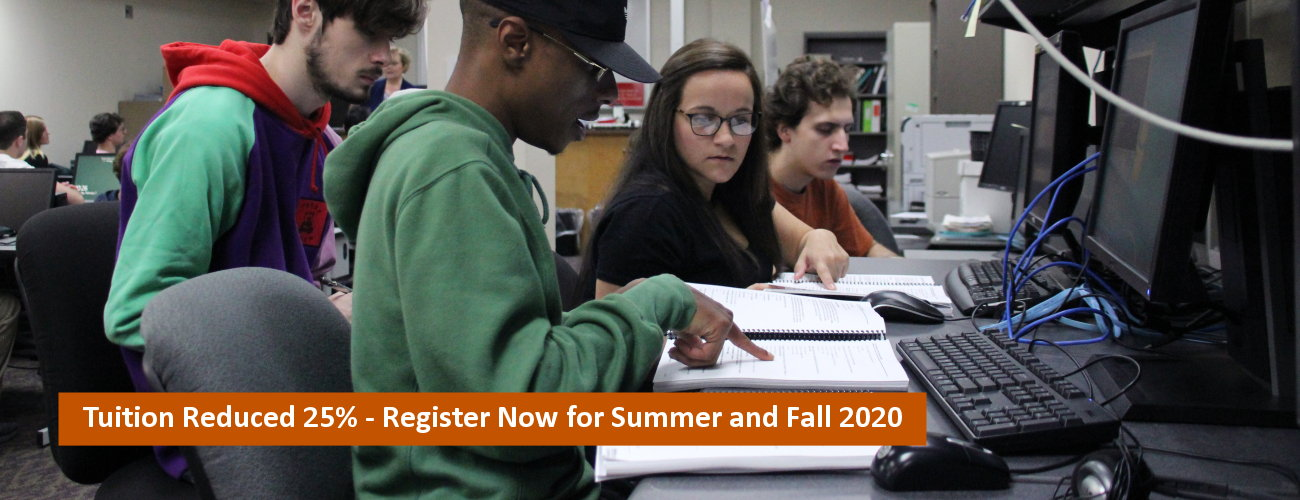 Tuition Reduced 25%; Apply now for Spring 2020